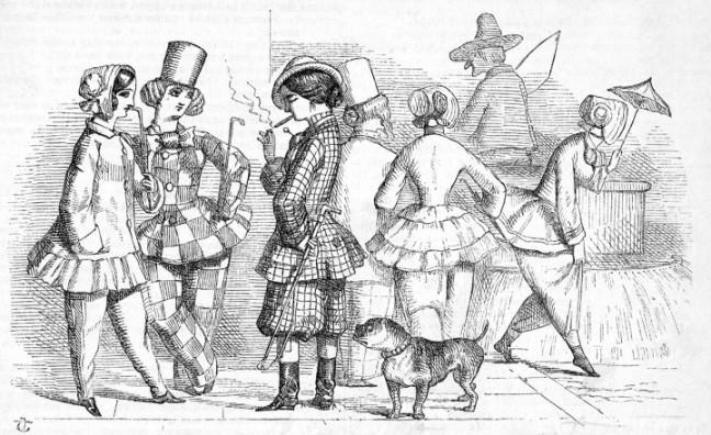 Cartoon Depicting Women's Clothing