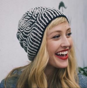 Andrea Mowry dreareneeknits brioche stitch hat