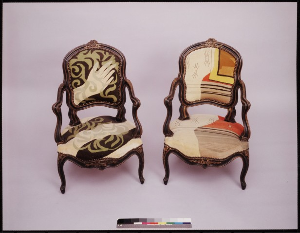 Toklas Stein Picasso Petit Point Upholstered Chairs