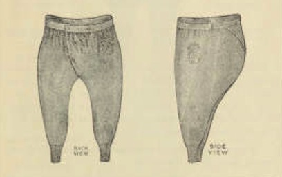 Ladies Sanitary Woolen Drawers in Jaeger Catalog 1887