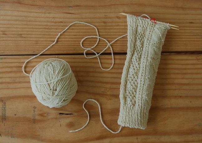 Aspen Socks Leg Warmer WIP