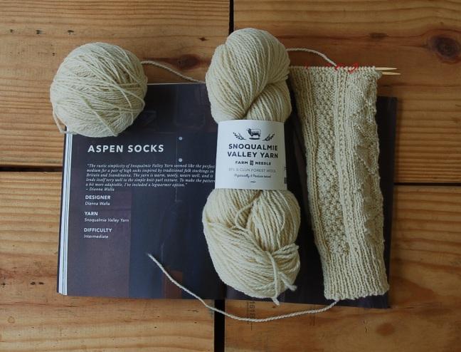 Aspen Socks Leg Warmers WIP Tolt Farm to Needle Snoqualmie