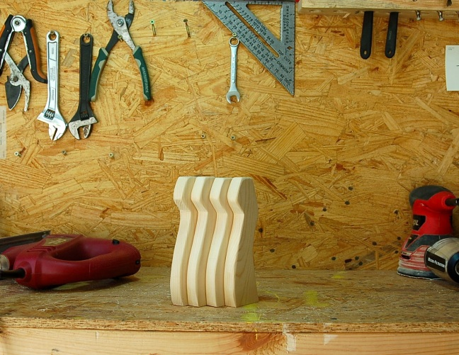 Alice Toklas Stool Legs in the Woodshop