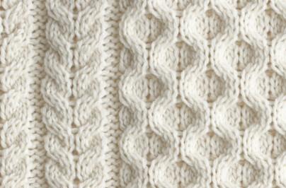 Detail of an Aran sweater sold by J.Crew** –jcrew.com