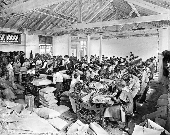 Sewing Factory in Late Victorian England