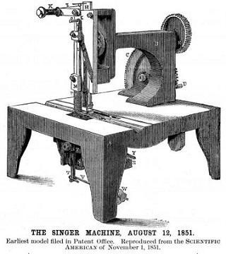 Singer Sewing Machine, 1851