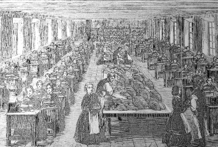 Somervell Brothers Sewing Factory – Illustrated Exhibition London (1862)