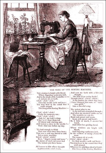 The Song of the Sewing Machine, Girl's Own Paper, 1883
