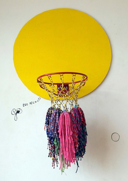 Hazel Meyer Walls To The Ball Egg Yolk Basketball