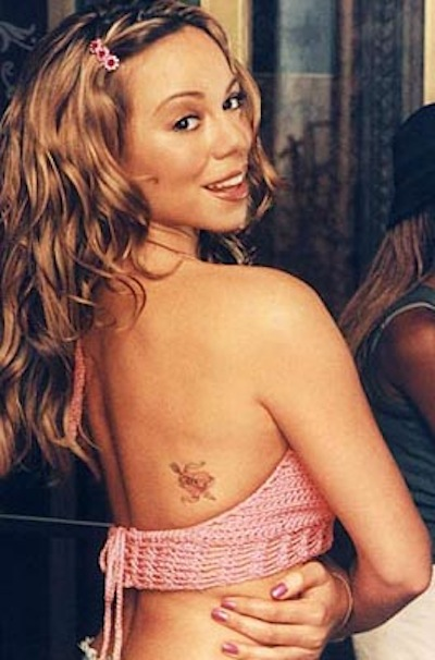Mariah Carey Pink Crochet Crop Top Heartbreaker