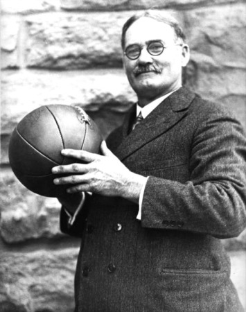 James Naismith Holding Early Basketball