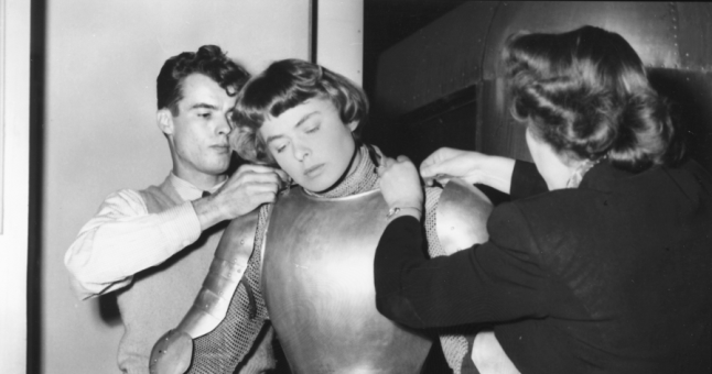 Ingrid Bergman on the set of Joan of Arc (1948)